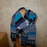 шарф- палантин натуральный стильный модный мягкий тёплый