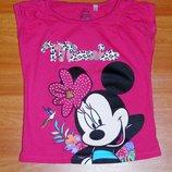 Розовая футболка с Микки Маусом, 98,104, 3 года Состояние новой