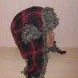Новая теплая шапка ушанка Fashion 8-13 лет, оригинал
