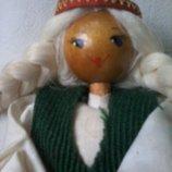 Кукла новая Ссср Рига Страуме сувенирная 21 см с ценником