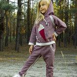 Спортивный костюм для девочки, 4-8 лет - Мороженое