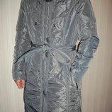 Пальто куртка пуховик женский с натуральным мехом