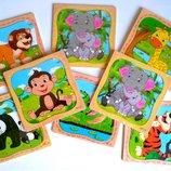 Деревянные пазлы деревянные игрушки,развивающие игрушки,лабиринт