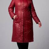Скидка Зимняя куртка плащ с натуральным мехом 54 56 58