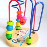 Разные Деревянный пальчиковый лабиринт, лабиринт,деревянные игрушки