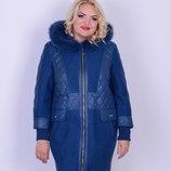Женская куртка зимняя с вареной шерстью
