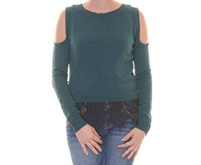 Топ тонкий свитерок с вырезами по рукам, отороченный кружевом по низу на 46-48 р