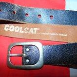Кожаний стильний фирменний ремень пояс бренд Coolcat 89 см