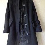 Осенние длинное пальто h&m, шерсть, розмір 34/36