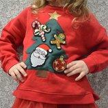 Детская новогодняя кофточка свитшот на девочку фирмы Zara