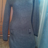 Вязаное теплющее платье 100% акрил