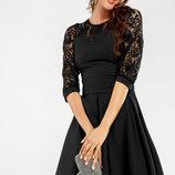 Платье с гипюром в расцветках