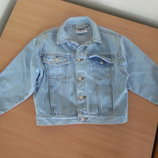 Пиджак джинсовый девочке 110 см Arizona Аризона вышивка