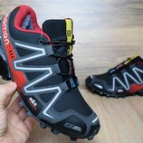 Зимние кроссовки Salomon M&S Contagrip black/red