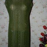 Лёгкое летнее платье-туника для пляжа и отдыха 14 размер.