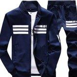 Спортивный костюм приталенного фасона с манжетами 3 цвета AL6867