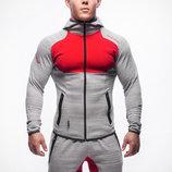 Мужской спортивный костюм приталенного фасона 2 цвета AL6564