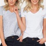Женская футболка с V образным вырезом. Размеры от XS до XXL