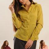 Блуза рубашка классическая на пуговицах Пинк