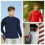 Мужские футболки с длинным рукавом.Размеры от S до XXL