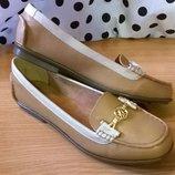 Уютные туфли лоферы на 40р. 26,3 см. Taccardi, комфорт