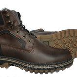 Кожаные мужские зимние ботинки Riccone Brown R11