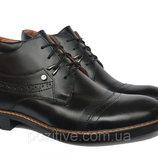 Мужские зимние кожаныеботинки Vivaro BlackV6