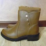 Симпатичные демисезонные ботинки на низком ходу 36 37 38 39 40 Италия