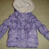 Фирменная George теплая зимняя куртка девочке на год-полтора