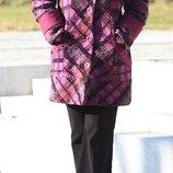 Зимнее тёплое пальто в клетку шерсть, кашемир