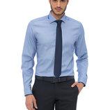 насыщенно-голубая мужская рубашка LC Waikiki