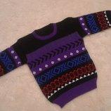 Тепленький свитерок на девочку или мальчика 12-18 месяцев