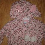 Теплые флисовые пижамы слип 4-6лет