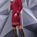 Элегантное платье с вышивкой 891