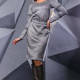 Завораживающее платье с ажурным узором 868