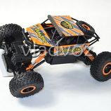 Джип на радио управлении машинка внедорожник модель Rock Crawler оранжевый 1 18 2542-3