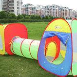 Детская игровой центр-2 палатки тоннель 3 в 1, 5025