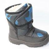 Дутики р.13,14,15см сапоги зимние, дутики, ботинки непромокаемые зима