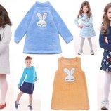 Тёплые зимние платья и юбки для девочек в размерах от 86 до 140