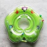 Надувний круг для купання немовлят. Круг на шию для купання Діток. Круг для купания младенцев.