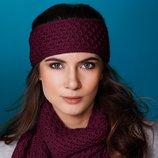 Шикарный комплект повязка шарф от тсм Tchibo Германия размер универсальный