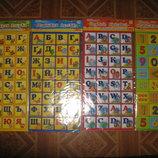 Магнитная азбука. Цифры, буквы. Магнит. Алфавит