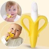 Гризунок - прорізувач Банан . Зубна щітка-тренажер