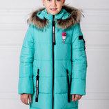 Новинка- куртка «Ника», бирюза зимняя куртка для девочки