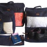 Набор дорожных сумок в чемодан 5 шт