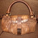 сумка Max Mara оригинал кожа крокодил винтаж идеал