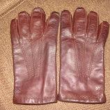 мужские перчатки Calvin Klein оригинал кожа утеплитель L идеал