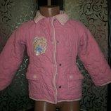 стеганка курточка деми на флисе на 2-3 года Disney Дисней