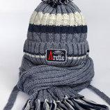Зимние шапочки шарфики Рок Разные цвета