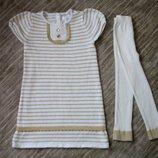 Нарядное платье - туника и лосины Gymboree Джимбори на рост 95-105